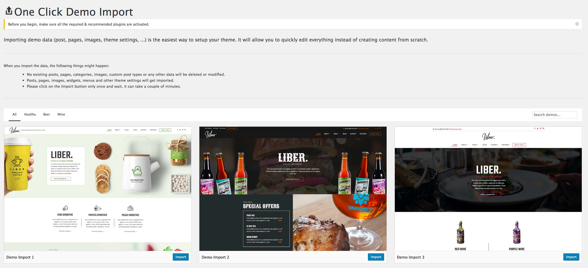 Liber - Premium WordPress Theme