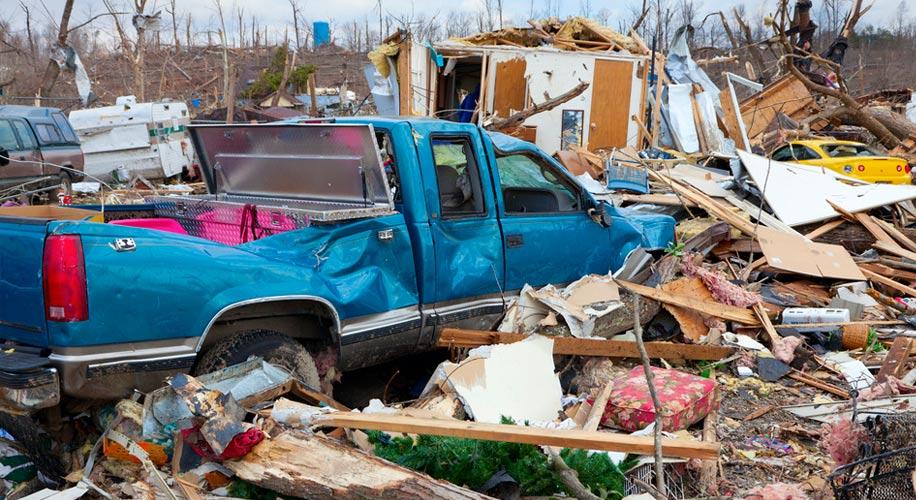Day after tornado