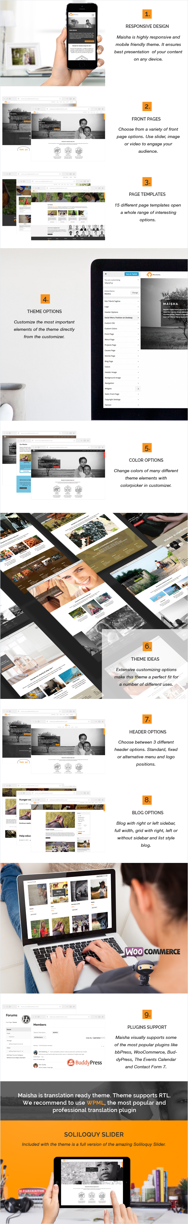 WordPress theme Maisha - Charity/Non-Profit WordPress Theme (Charity)