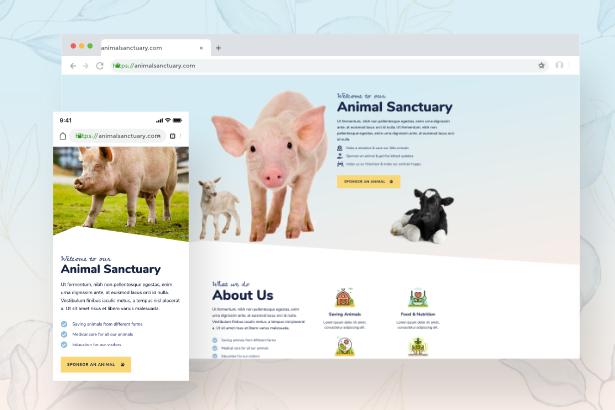 sanctuary-mobile Animal Sanctuary - Non-Profit Template Kit theme WordPress