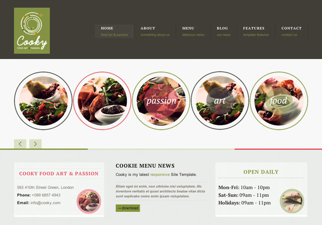 Restaurant Site Template