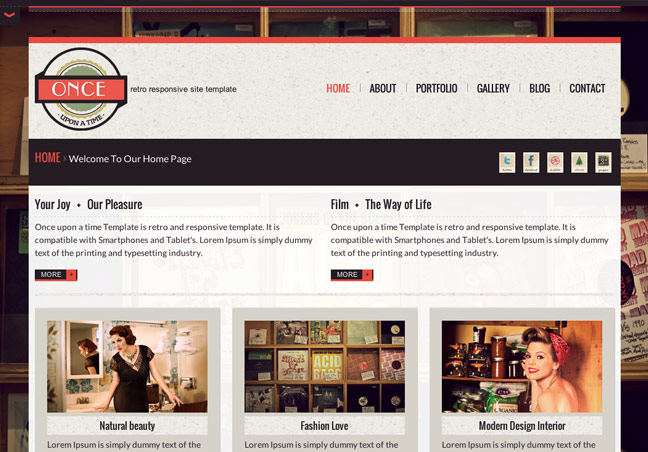 Retro Site Template