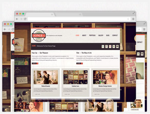 Retro Website Template Live Preview