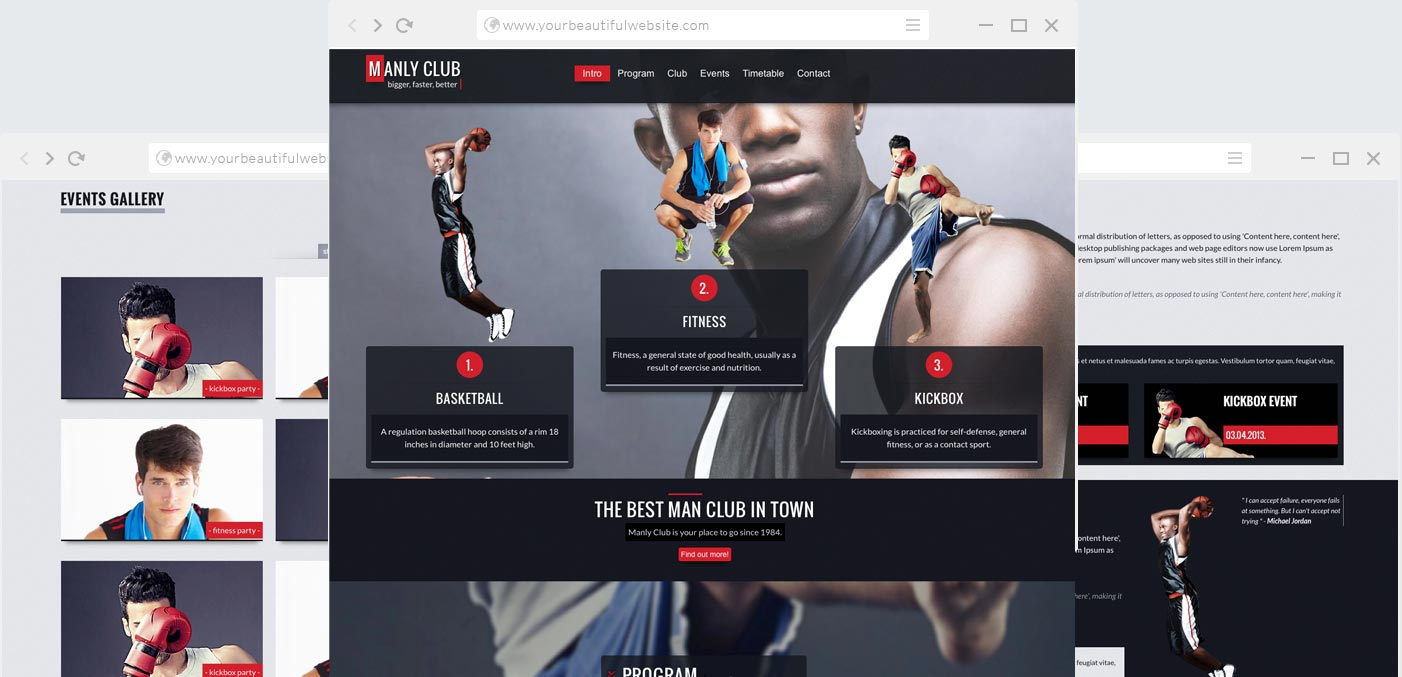Fitness and Sport HTML Template | Anariel Design