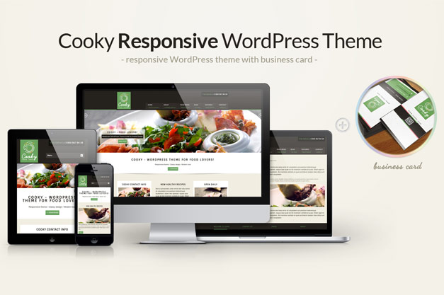 "Attention Food Lovers – ""Cooky "" WP Theme is out, simply delicious!"