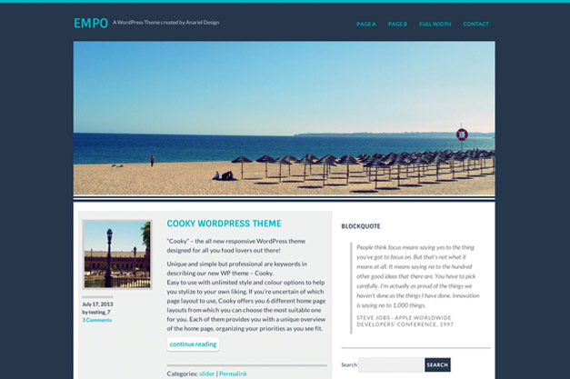 """Empo"" Free WP Theme released for WordPress.org"