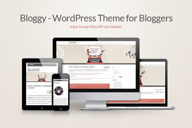 """Bloggy"" WordPress Theme – an easy start for Bloggers!"