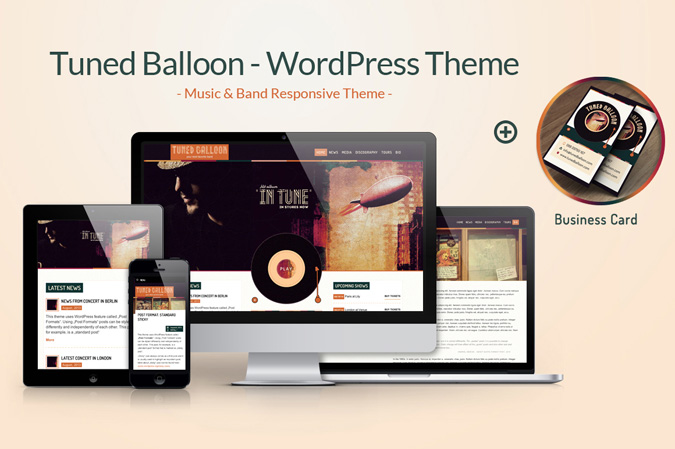 """Tuned Balloon"" – fly high with one of a kind music WP theme"