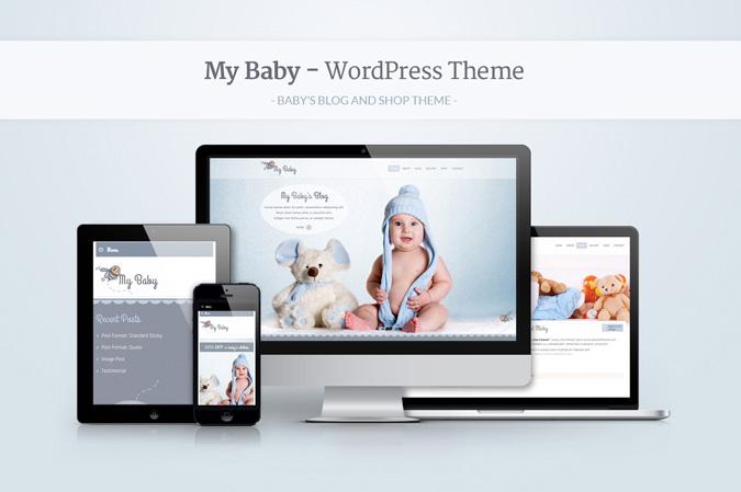 """""""My Baby"""" Premium WordPress Theme To Melt Your Heart"""