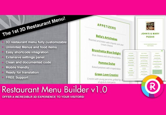 Restaurant Menu Builder