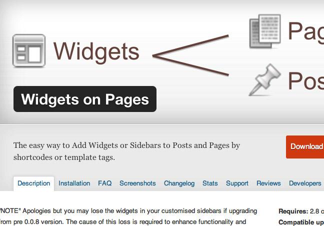 Widgets on Page