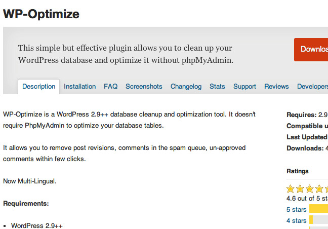 WP Optimize