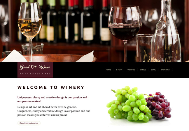 Wines Website Template