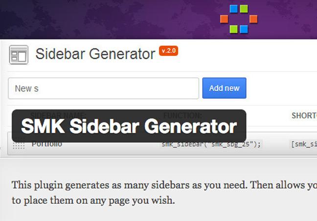 Sidebar Generator