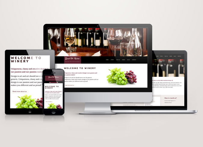 "Taste The Exquisite Uniqueness of ""Good Ol´ Wine"" HTML Template"