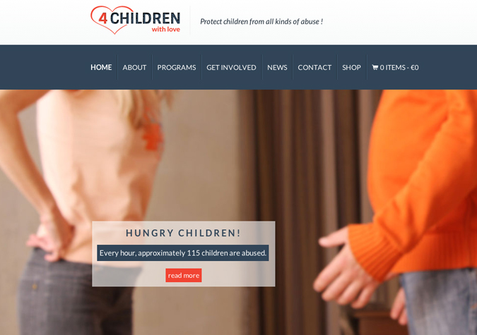 "How to set up a slider in ""4 Children"" WP Theme"