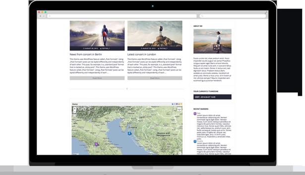 WordPress Theme for Travelers