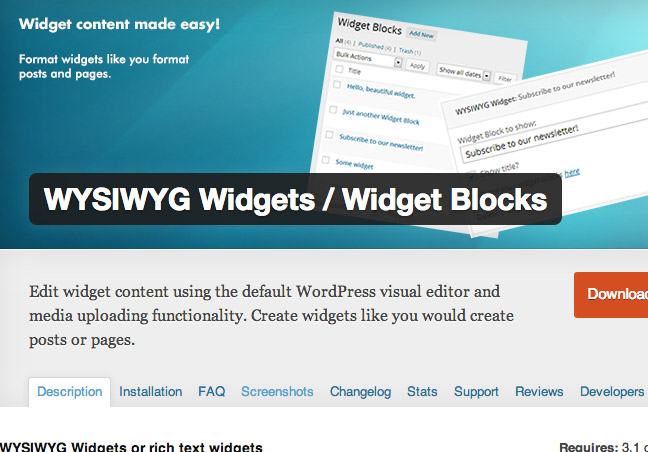 Widget Blocks