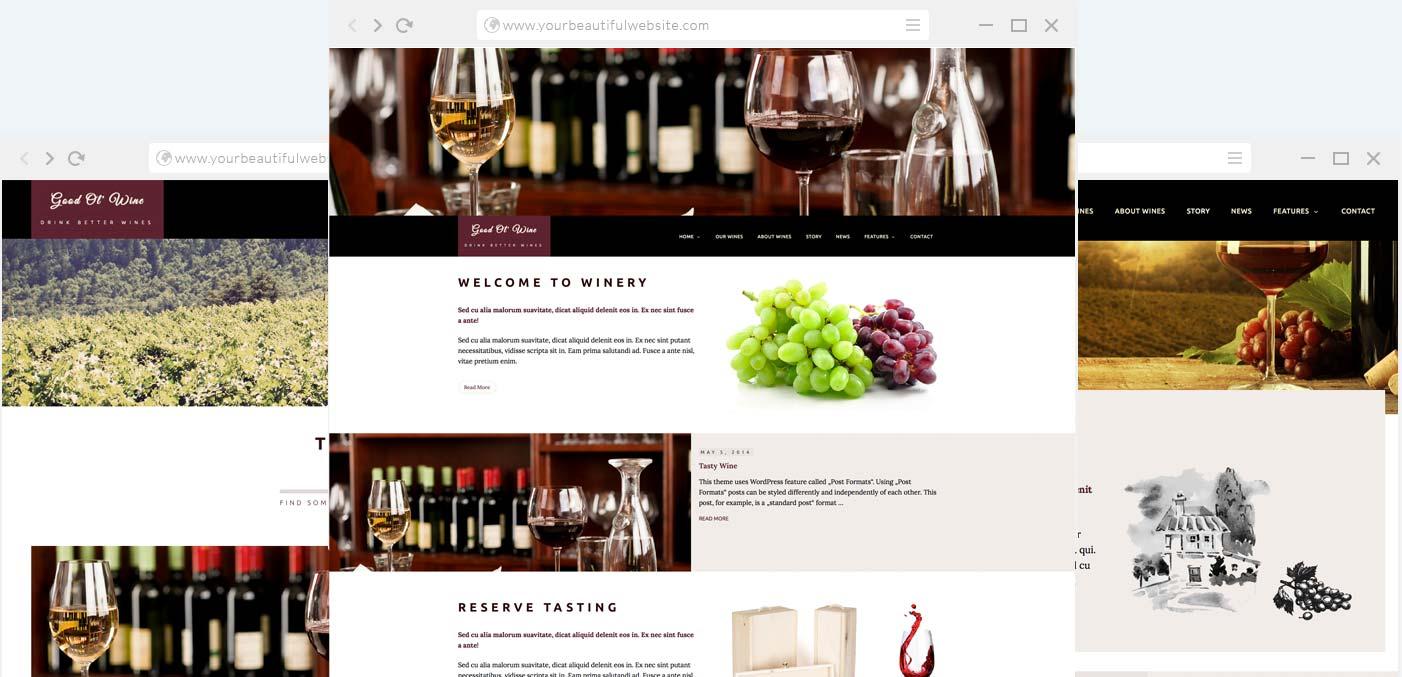 Wine Bar & Restaurant WordPress Theme