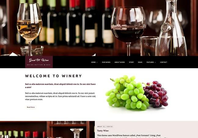 Wine and Restaurant WordPress Theme
