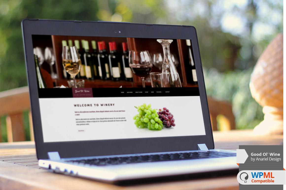 "Introducing WPML Compatibility : ""Good Ol` Wine"" WP Theme"