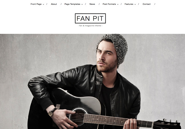 Fan and Magazine WordPress Theme