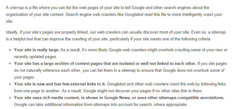Why are Sitemaps Important