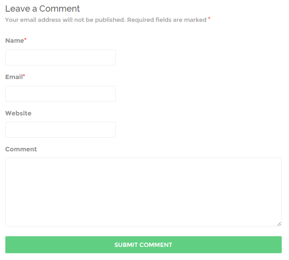 WordPress Default Comments
