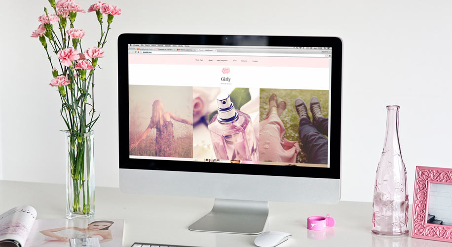 """Girly"" A Stylish Blog and Magazine WordPress Theme"