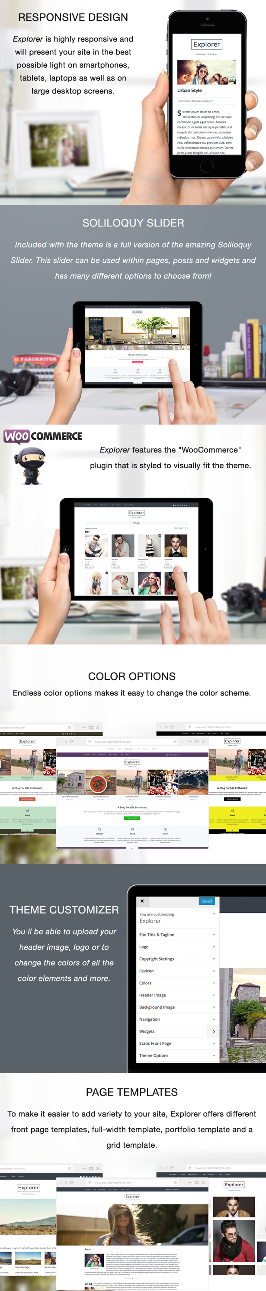 Travel, Fashion and Food WordPress Theme