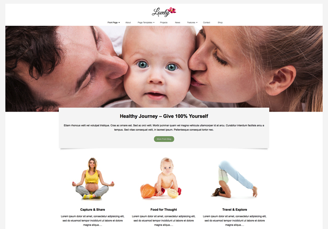 Health and Lifestyle WP Theme