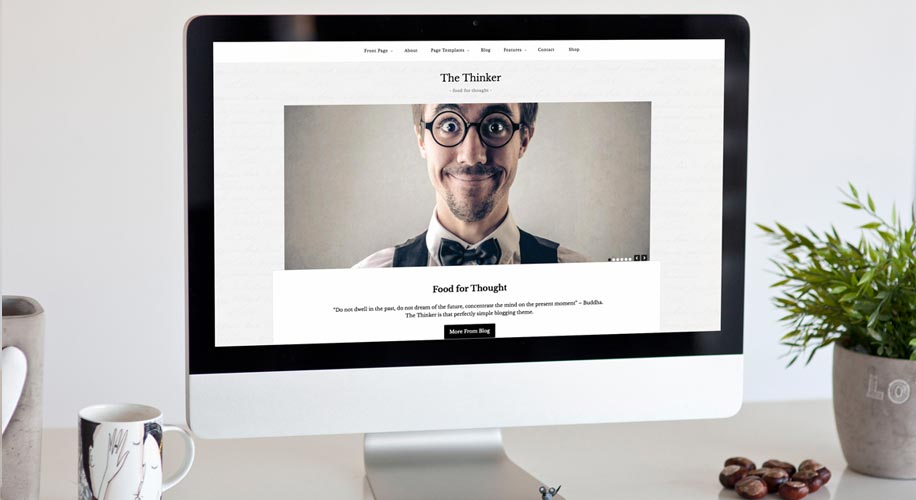 """The Thinker"" – WordPress Theme For Modern Blogger"