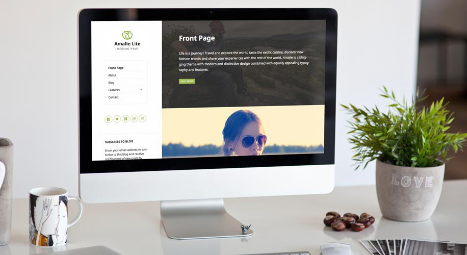 Amalie Lite Free WordPress Theme