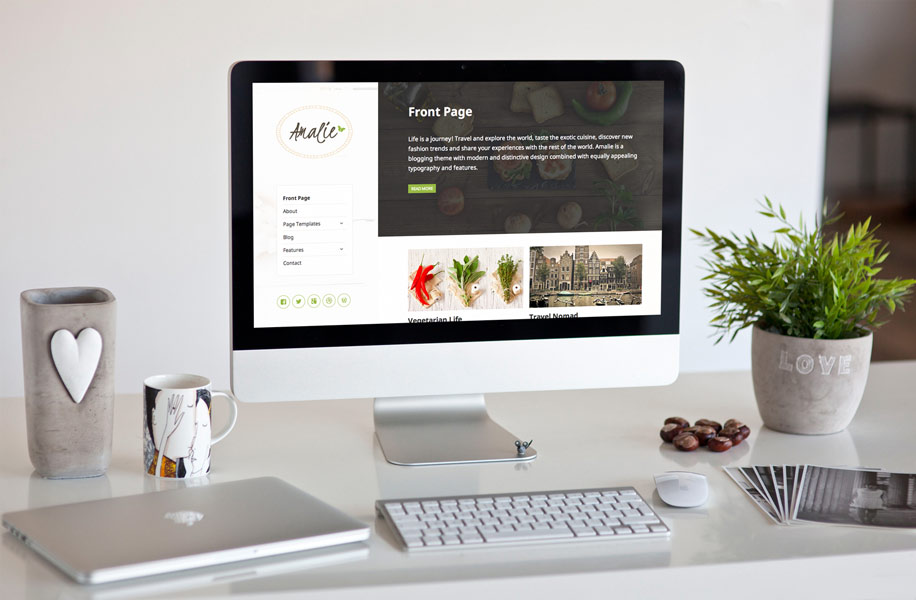 "Modernize Your Personal Blog With ""Amalie"""
