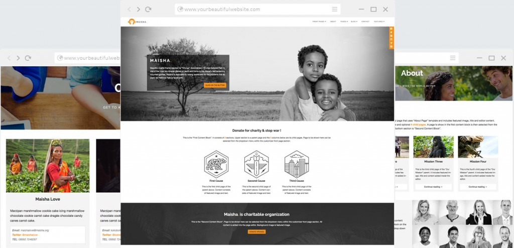 Maisha is our flagship Charity WordPress theme.