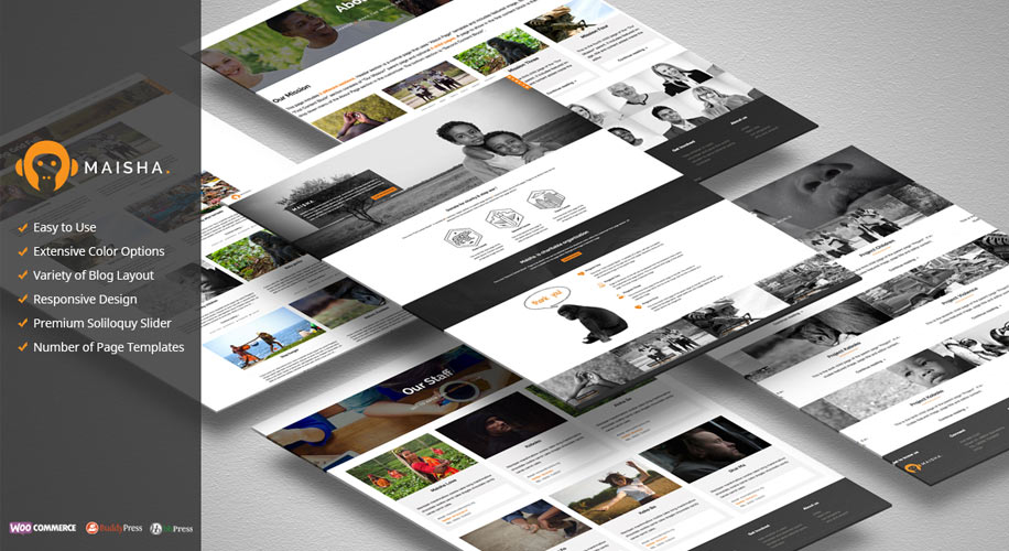 """Maisha"" – The Ultimate Charity WordPress Theme"