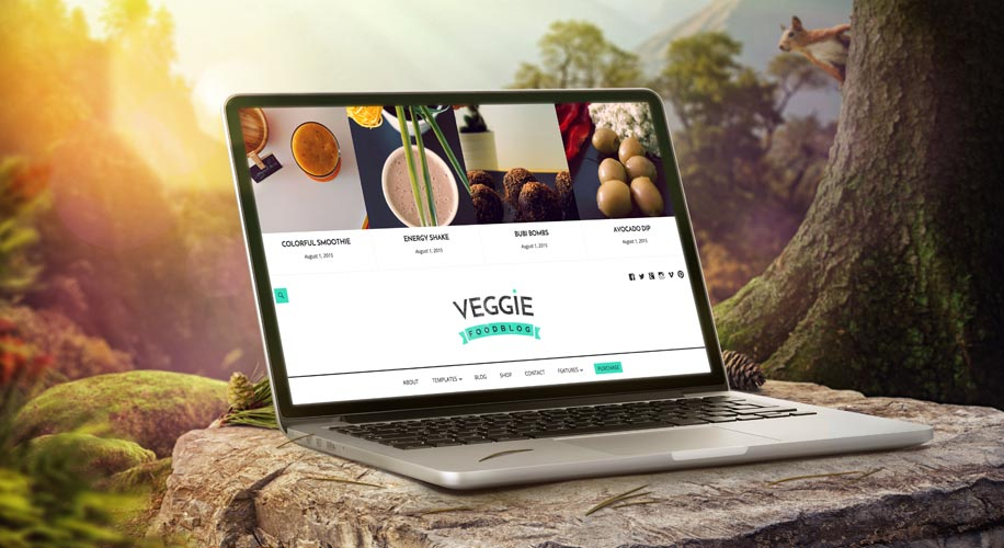 """Veggie"" – Premium WordPress Theme for Blogging Gourmands"