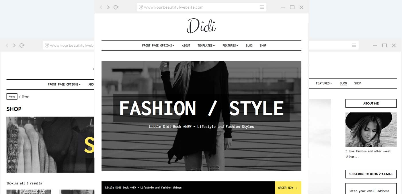 Fashion Wordpress Theme Didi Anariel Design