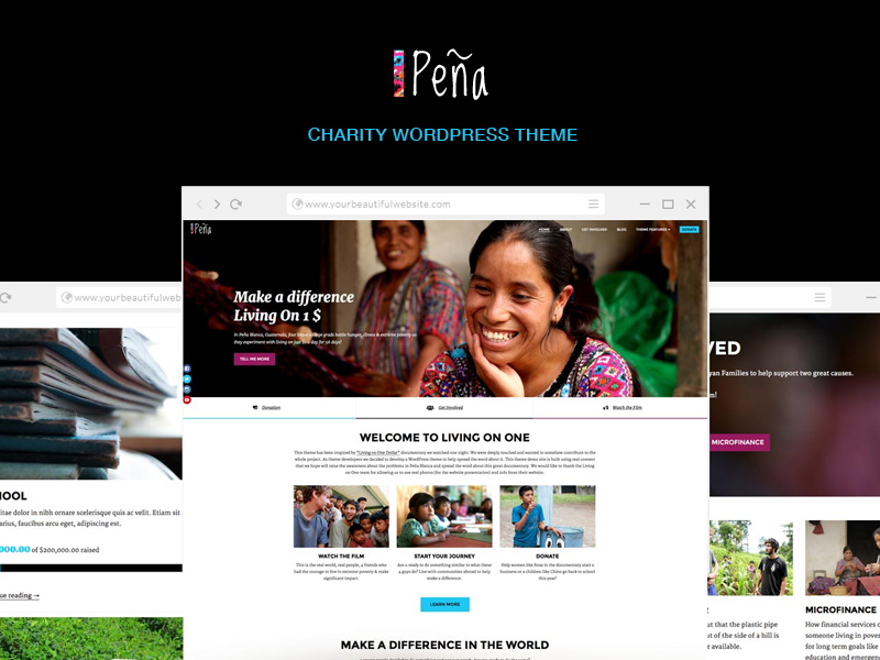 "Build Your Charity Site with ""Pena"""