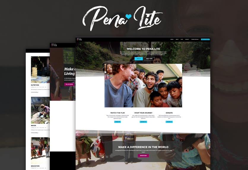 Pena Lite – Free Charity WordPress Theme