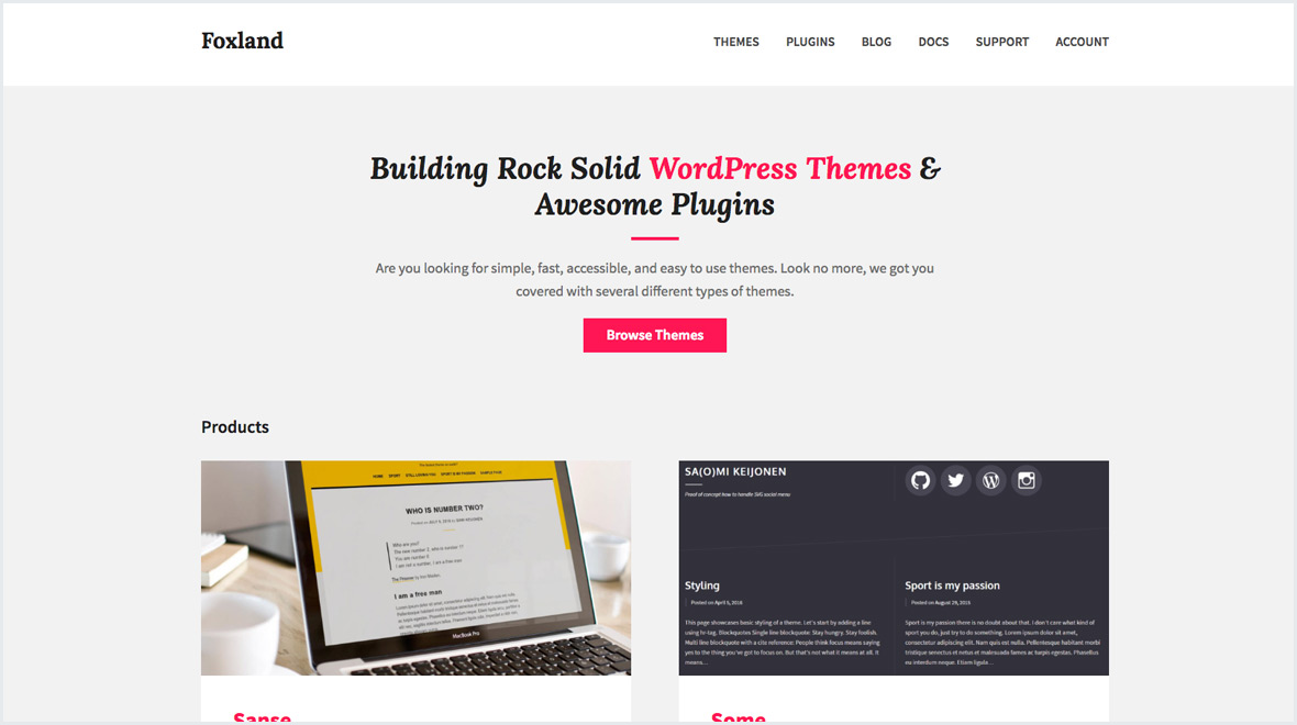 Foxland WordPress Themes