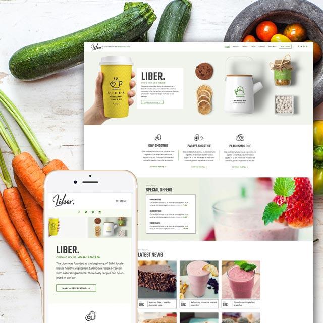 Restaurant and Bar WordPress theme