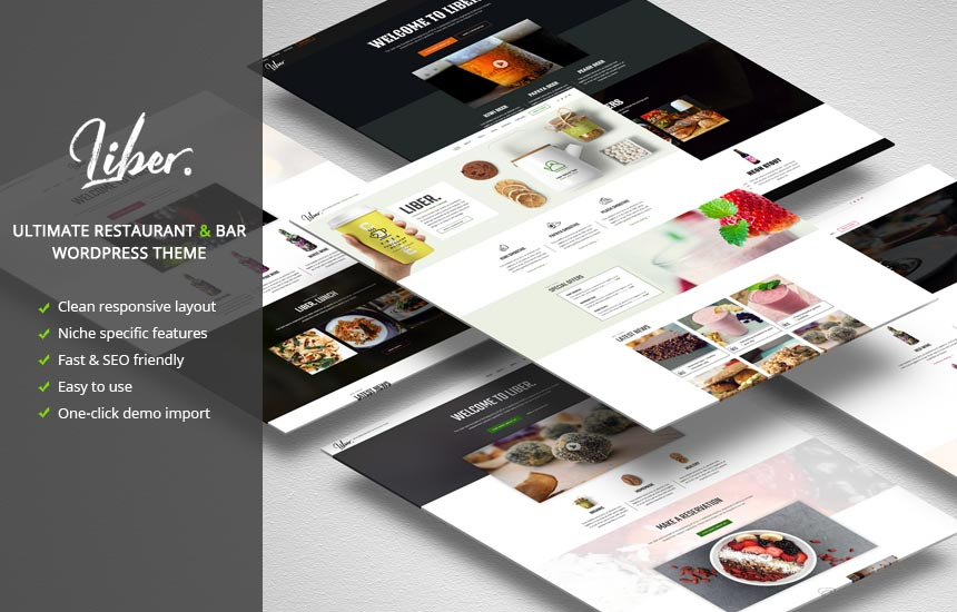 Liber – Premium Restaurant & Bar WordPress Theme
