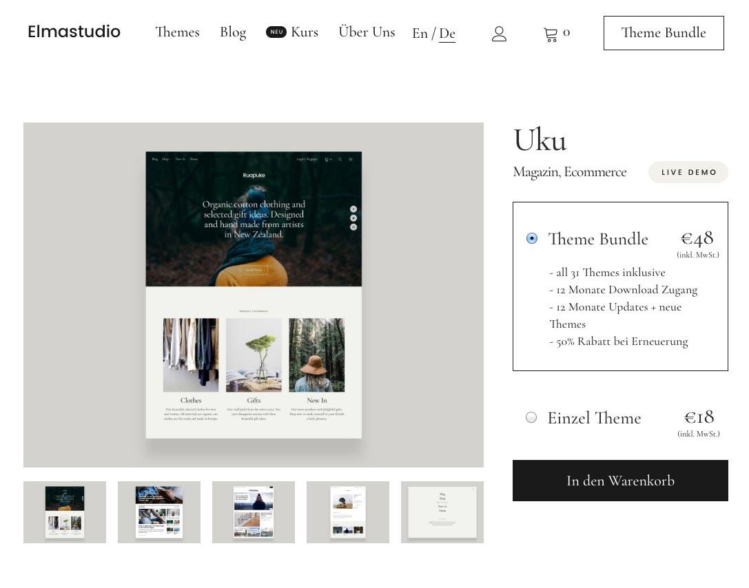 Uku WordPress Theme ElmaStudio