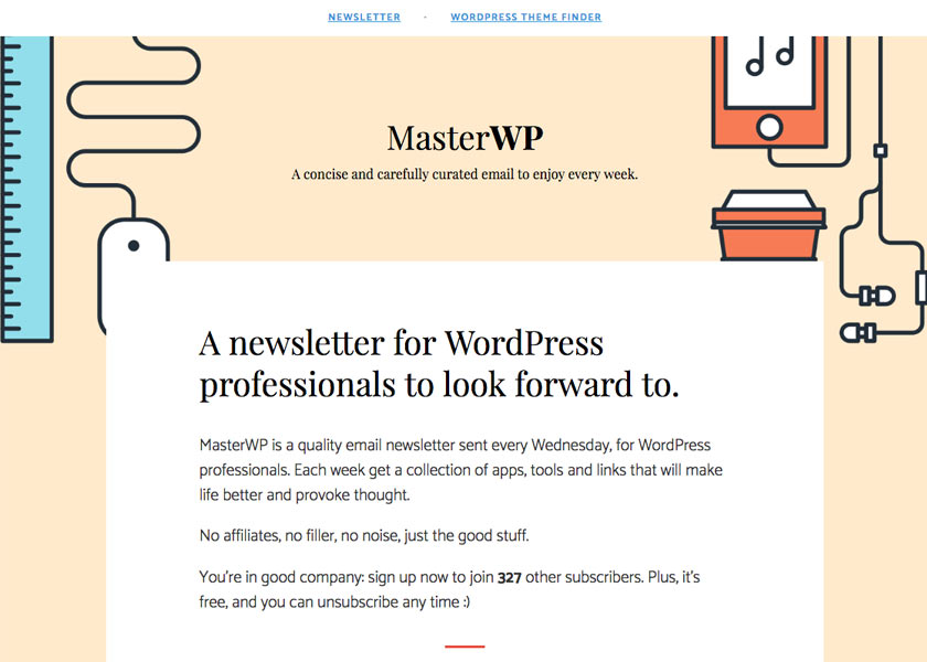 MasterWP – A Newsletter for WordPress Professionals