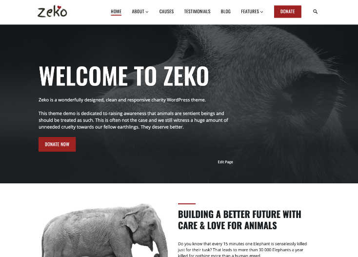 Zeko Charity WordPress Theme
