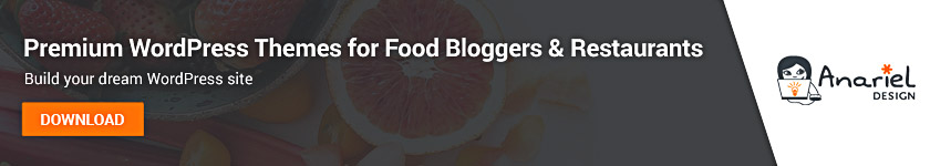 WordPress Themes for Food Bloggers and Restaurants