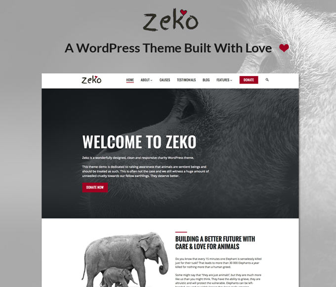 Zeko – A Beautiful Charity WordPress Theme