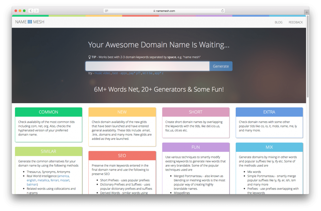 NameMesh is a fantastic tool for finding available non-profit domain names.
