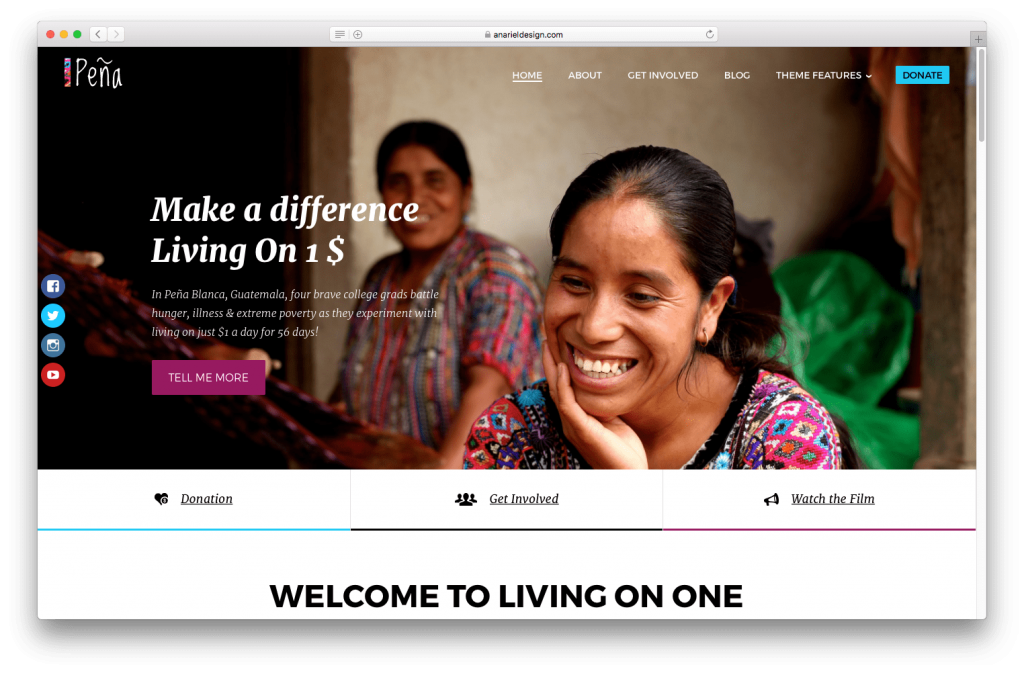 Pena is our NGO website template.